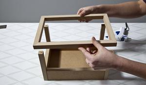 KROK III - budowa konstrukcji domku na zioła