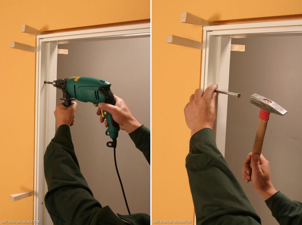 Tür einbauen  Türzarge und Tür einbauen – Komplettbausatz: Tür und Rahmen – Haus ...